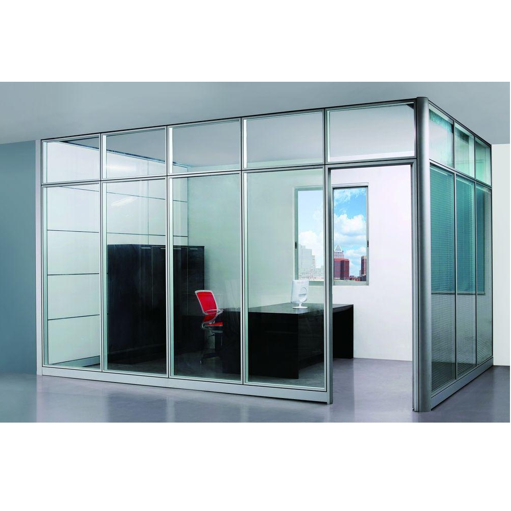 Modern Glass Executive Desk Demountable Wall Parti...