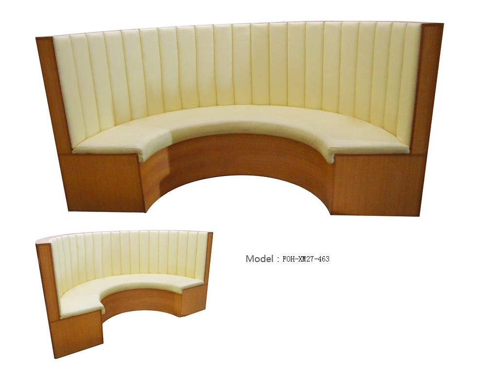 Booth Sofa Seating Customized U Shape Restaurant