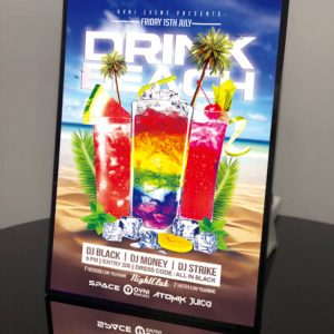 Backlit Advertising Light Box Poster A4 Side-drawing with Semi-tempered Glass (1)