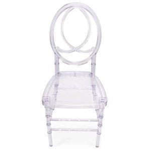FOH-CF0001 Acrylic Clear Chair Oval Backrest